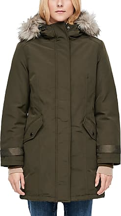s.Oliver Womens 05.910.52.7000 Coat, Green (Taupe 7946), 14