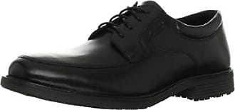 Rockport Mens Essential Details Water Proof Apron Toe Oxford,Black,11.5 XW US