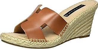 Steven by Steve Madden Womens Eryk Wedge Sandal, Cognac Leather, 10 M US