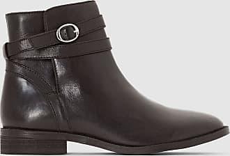 c5c71cb64d55 La Redoute Collections Boots cuir bride à boucle - LA REDOUTE COLLECTIONS -  Noir