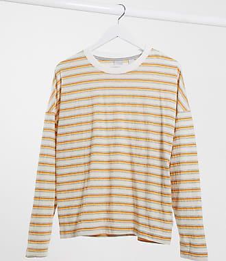 Quiksilver Fluids - Maglietta a maniche lunghe a righe arancioni-Arancione