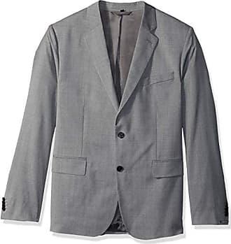 J.Lindeberg Mens Comfort Wool Blazer, Light Grey Melange, 48