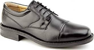 Roamers Capped Gibson - Black - Black - size UK Mens Size 7