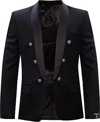 Balmain Blazer With Decorative Buttons Mens Black
