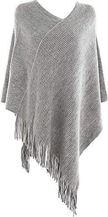18874e30c22259 Feoya Damen Schal Poncho Kaschmir Quaste Cape Klassische Tuch Strick  Pullover Einfarbiges Sweatshirt