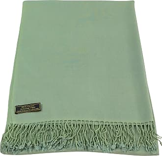 CJ Apparel Laurel Green Solid Colour Design Nepalese Shawl Seconds Scarf Wrap Stole Throw Pashmina Pashminas NEW