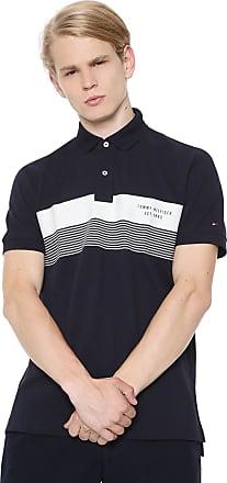 a64013b41c1 Tommy Hilfiger Camisa Polo Tommy Hilfiger Reta Stripe Azul-Marinho Branca