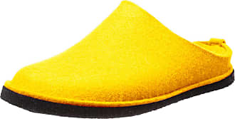 Haflinger Unisex Adults Flair Soft Open Back Slippers, Yellow (Mais 252), 3.5 UK
