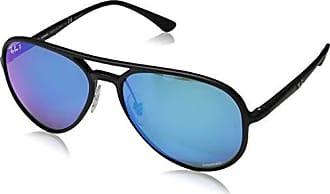 Ray-Ban 0rb4320ch Polarized Aviator Sunglasses, Matte Black, 58 mm