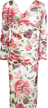 c88b34de384 Dolce   Gabbana floral fitted midi dress - Pink
