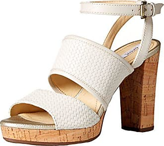 Geox Damen Heritage Sandalette, grau, 35 EU: