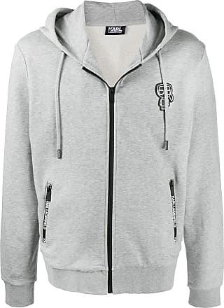 Karl Lagerfeld zip-through hoodie - Cinza