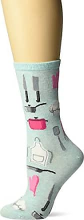 Hot Sox Womens Novelty Occupation Casual Crew Socks, chef (Mint), Shoe Size: 4-10 Size: 9-11