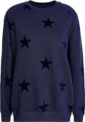 Zoe Karssen Zoe Karssen Woman Flocked French Cotton-terry Sweatshirt Navy Size XS