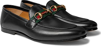 d8b685707 Gucci Brixton Webbing-trimmed Horsebit Collapsible-heel Leather Loafers -  Black