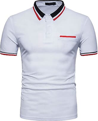 NPRADLA Casual Polo Shirts New Hot 100 Cotton Mens Slim Sports Short Sleeve Casual Shirt T-Shirts Tee Short Tops Blouse (XX-Large, ZZ-Navy)