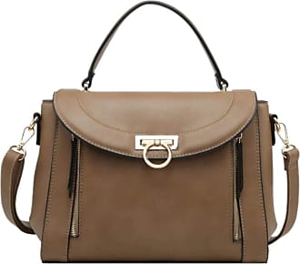 Girly HandBags Girly HandBags Womens Vintage Plain Handbag - Khaki