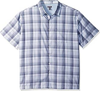 Van Heusen Mens Big and Tall Air Short Sleeve Button Down Check Shirt, Blue Jeans, 2X-Large