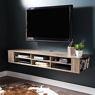 South Shore Furniture 9062677 City Life Wall Mounted Media Console, 66, Weathered Oak