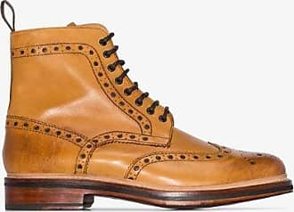 Grenson Mens Brown Tan Fred Leather Boots