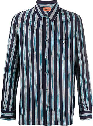 Missoni Camisa de algodão com estampa de listras - Azul
