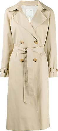 Sandro Victory plaid-back trench coat - NEUTRALS