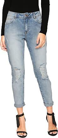 Lez a Lez Calça Jeans Lez a Lez Skinny Cropped Destroyed Azul