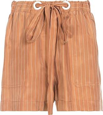 Shoulder Shorts Cupro Risca De Giz Shoulder - Marrom