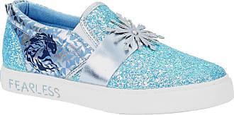 Disney Frozen 2 Elsa Fearless Glitter Slip-on Sneakers for Kids (Numeric_12) Blue