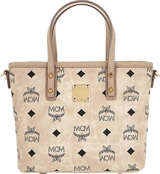 0ff8237191087 MCM Anya Top Zip Shopper Mini Beige Umhängetasche beige