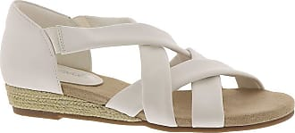 Easy Street Womens Zora Faux Leather Dress Sandals White US 8 Wide (C,D,W)