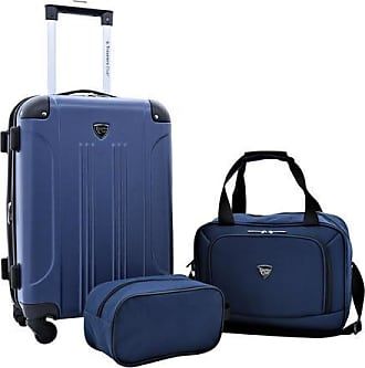 Travelers Club 3-Piece Luggageet Set - Blue