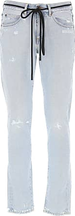 Off-white Jeans On Sale, Light Blue Jeans, Cotton, 2017, 31