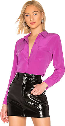 Equipment Slim Signature Top in Purple