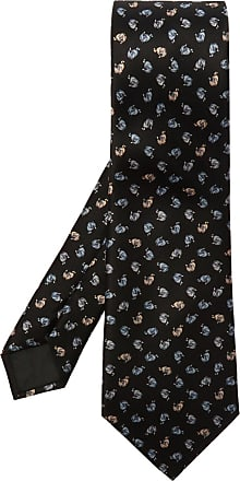 Lanvin Silk Tie Mens Black
