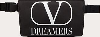 Valentino Garavani Valentino Garavani Uomo Vlogo Dreamers Nylon Belt Bag Man Black/white Polyester 45%, Polyamide 39%, Polyurethane 16% OneSize