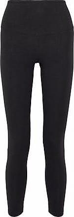 Yummie Tummie Yummie By Heather Thomson Woman Lace-up Stretch-cotton Jersey Leggings Black Size XS
