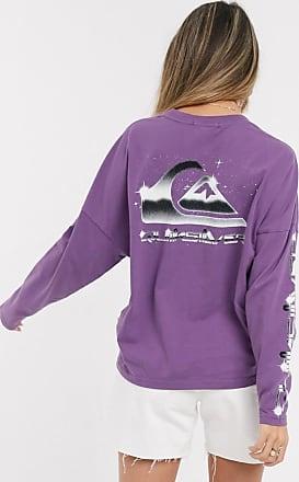Quiksilver T-shirt a maniche lunghe squadrata viola