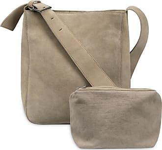 YaYa Wildledertasche mit Geldbörse - suede leather | sand - Sand