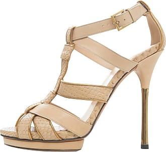 cfb650a9f725 Gucci Leather Platform Sandal With Rose Gold Heel