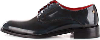 Base London Mens Bexley Hi-Shine Lace Up Leather Smart Oxford Shoes