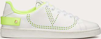 Valentino Garavani Valentino Garavani Sneaker Backnet In Vitello Donna Bianco/lime Pelle Di Vitello 100% 36.5