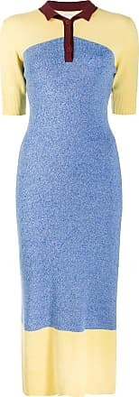 Chinti and Parker Vestido color block - Azul