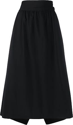 Yohji Yamamoto high-waisted midi skirt - Black