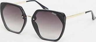 Quay VIP oversized sunglasses in black