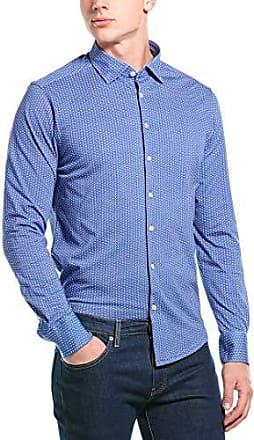 Stone Rose Mens Cotton Knit Geometric Print Long Sleeve Shirt