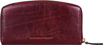 1603e61143059 Maxwell Scott Maxwell-Scott schlanke Damen Leder Geldbörse mit  Reißverschluss in Weinrot - Ponticelli -