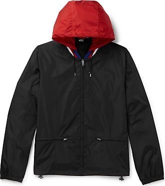 be61454ed Gucci Wool-trimmed Logo-print Shell Hooded Jacket - Black