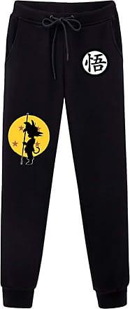 Cosstars Anime Dragon Ball Z Goku Sweatpants Trousers Cosplay Costume Sport Jogging Long Pants with Pockets Black 5 XL