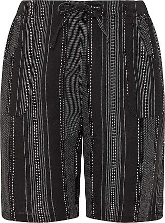 Yours Clothing Clothing Womens Plus Size Linen Mix Shorts Size 22-24 Black